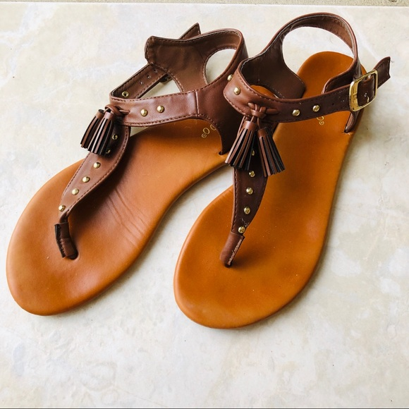 BAMBOO Shoes - Bamboo Brown Leather Sandals 👡